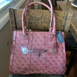 New Guess pink large shoulder purse